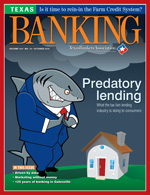 October 2014 Texas Banking Magazine cover