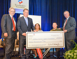 2015 Texas Bankers Foundation Wounded Warrior- Donation