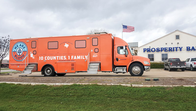 Prosperity Bank's Liberty Hill banking center hosted a blood drive the morning of March 18 with We Are Blood.