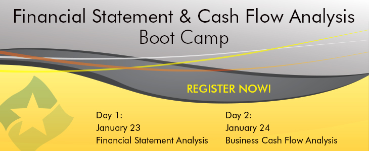 Financial Statement & Cash Flow Analysis Boot Camp ad