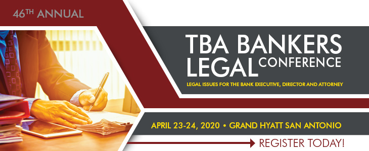 2019 TBA Bankers Legal Conference ad