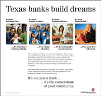 Texas Banks Build Dreams print ad