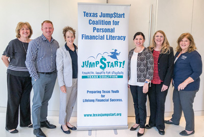 JumpStart Coalition board members Jocelyn Carby, Nick Murja, Mary Lange, Christy Bachmeyer, Susan Kizer and Susan Doty.