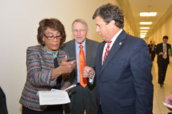 Maxine Waters with Jeff Austin, III